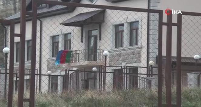 Ermeni işgalinden kurtarılan Talış köyünde Azerbaycan bayrağı dalgalandı
